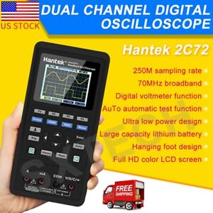 Hantek 2in1 Handheld Digital Oscilloscope Multimeter 40mhz 70mhz Dmm Us Plug