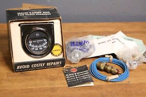 Vintage Rac Water Temperature Gauge Illuminated Rat Rod Muscle Car Truck Chevy