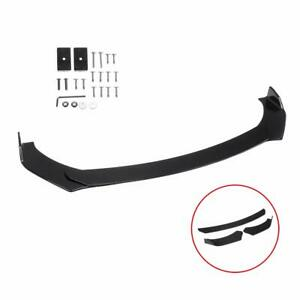 Front Bumper Lip Chin Spoiler Wing Black Body Kit For Ford Mustang Gt 2000 2019