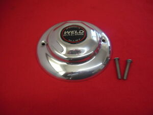 Weld Custom Wheel Center Cap Polished Aluminum 8 Diameter New With Bolts