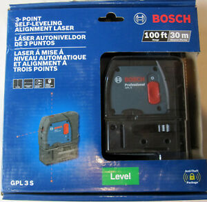 New Bosch 3 Point Self Leveling Alignment Laser Level Gpl 3 S