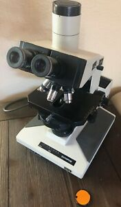 Olympus Bh 2 Phase Contrast Trinocular Microscope With 4 Objectives
