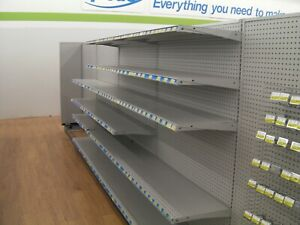 Gondola Shelving Madix Complete Sections Retail Store Aisle Wall