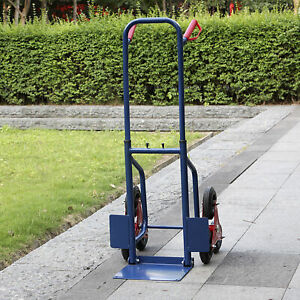 Stair Climbing Truck 440lb Moving Dolly Hand Truck Warehouse Appliance Cart Blue