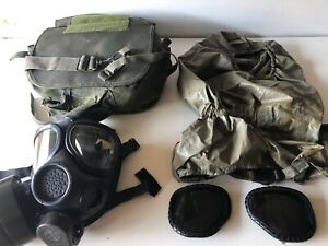 Msa M2 C2 Respirator Gas Face Cover Filter Mask 92 2g07 Ww2 Wwii Bag Case Eye