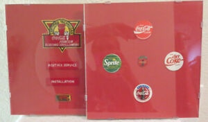 2 FRAMED SETS ~ COCA-COLA TECHNICIAN EMPLOYEE PATCHES & POGS / PIN SET ~ MINT