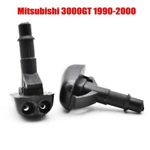 2pcs Front Windshield Wiper Washer Hood Jet Sprayer Nozzle For Mitsubishi 3000gt