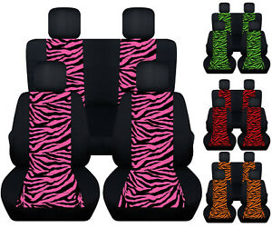 Front rear Black zebra Pink red green Etc Car Seat Covers Fits Vw Beetle 98 2018