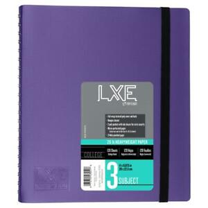 Lxe 3 Subject Upgrade Poly Spine Wrapped Notebook Case Of 12