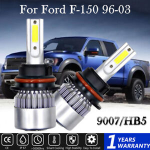 2pcs 9007 hb5 Led Headlight Hi low Beam 8000k Ice Blue 72w For Ford F 150 96 03