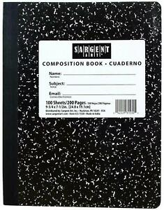 100 Sheet Black Marble Composition Notebook 9 75 X 7 5 Case Of 36