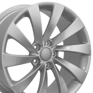 18 Rims Fit Volkswagen Vw Gti Jetta Eos Cc Passat Silver Wheels 69890 Set