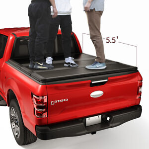 Jdmspeed Lock Hard Tri fold Tonneau Cover For 2015 19 Ford F 150 5 5ft Short Bed