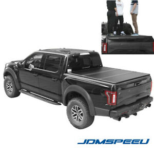 Jdmspeed Lock Hard Tri Fold Tonneau Cover For 2015 20 Ford F 150 5 5ft Short Bed