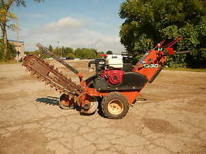 Ditch Witch 1330h Rubber Tired Walk Behind Trencher Honda 13hp Engine 36 Depth