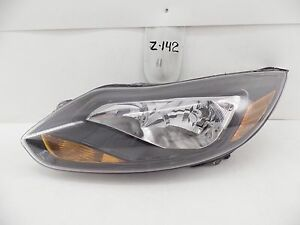 Used Oem Head Light Ford Focus 12 13 14 Headlight Lamp Headlamp Black Minor Chip