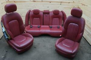 Front Rear Left Right Seat Red Leather Maserati Ghibli M157 14 17 Airbag Blown