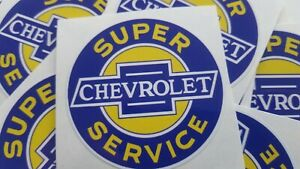 Chevrolet Decals Sticker Super Chevrolet Garage Tool Box Old School Vintage X 2