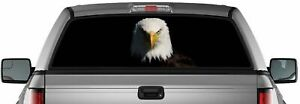 American Eagle Perforated Vinyl Decal Truck Van Rear Window Sticker Made In Usa