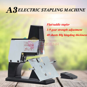 Electric Flat Stapler Saddle Stapler A3 Stapling Machine Binder A3 Stitcher