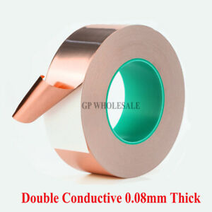 Shielding Double Sided Conductive Adhesive Copper Foil Tape 85mm 30m 0 08mm