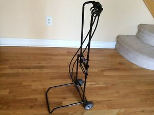 Folding Hand Cart Dolly Fold Up Luggage Truck Moving Cart Black W 2 Fixed Wheels