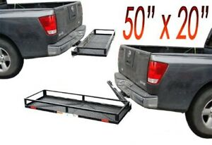 Swing Away Hitch Mount Cargo Carrier Luggage Basket