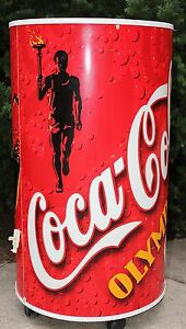 1996 Coca-Cola Coke Atlanta Olympics Soda Can Cooler Ice Chest Local P/U ONLY