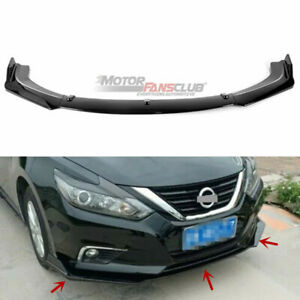 Front Bumper Lip Cover Trim For Nissan Altima Sedan 2016 2017 2018 Carbon Fiber