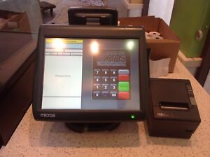Micros Oracle Res 3700 Pos Used Registers Restaurant Great Condition Supplies