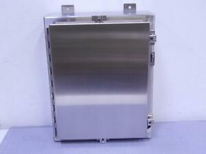 Hoffman A20h1606sslp Stainless Steel Industrial Control Panel Enclosure 20x16x6