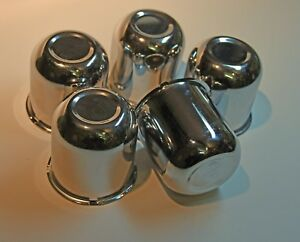 3 3 Push Through Wheel Center Caps Stainless Steel Set Of 5 Work On Jeep