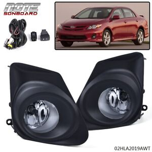 For 2011 2013 Toyota Corolla Ce Le Clear Bumper Front Fog Lights Switch Wiring