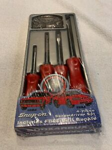 64 94 Mustang 30th Anniversary 4 Piece Snap On Screwdriver Set With Belt Buckle