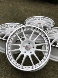 5x112 R18 8 5jj Et35 Oz Racing Superlegerra 3 3 Piece Forged Rims Polished Lip
