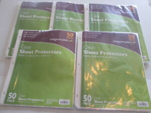 Wexford Sheet Protectors Clear Durable 9 25 X 11 22 50 Pack Lot Of 5 3 Ring