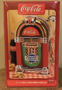 Gibson Coca Cola Rock N Roll Coke & A Song Jukebox Cookie Jar Canister 2002 New