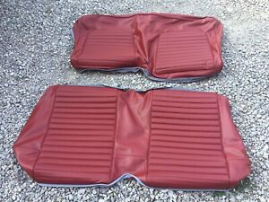 New 1966 Ford Mustang Coupe Standard Back Seat Upholstery Red