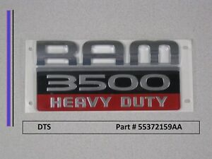 New Original Dodge Ram 3500 Heavy Duty Emblem Badge Decal 55372159ac