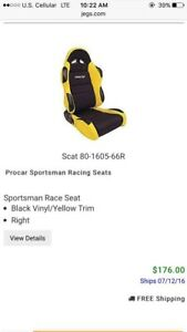 Scat Procar Seats And Corbeau Harness With Mounting Brackets
