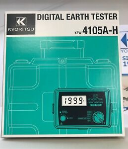 Digital Earth Resistance Tester With Hard Case Kyoritsu 4105 A h