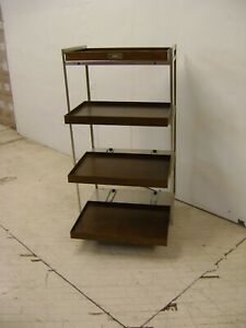 Fossil Retail Display Shelf Cart Rolling Rack