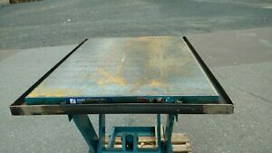 Electric Hydraulic Scissor Lift Table 2 500 Lb Capacity 48 X 36 Table