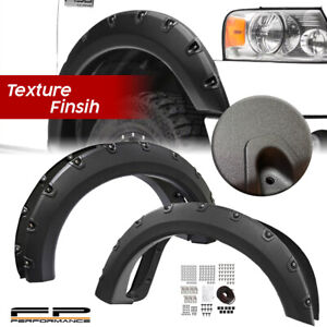 For 2004 2008 Ford F150 Textured Pocket Riveted Style Fender Flare Trim Add On