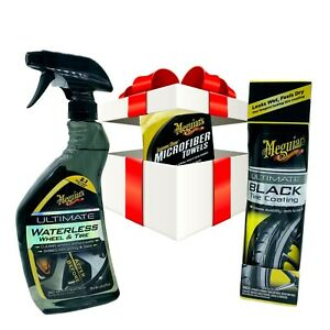 Meguiars Ultimate Waterless Wheel And Tire cleaner And Tire Dressing Kit
