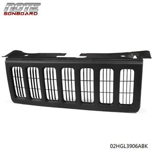 Black Front Grille For 2006 2007 2008 2009 2010 Jeep Commander 4 Door 55156975ad