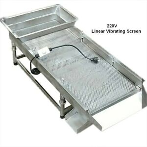 220v Small Stainless Steel Linear Vibrating Screen 11 8 29 5 shaker High Quality