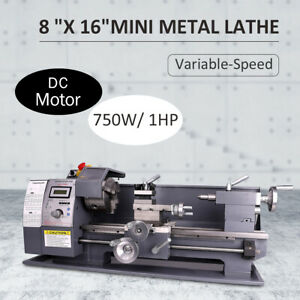 8x16 Mini Metal Lathe Variable speed Automatic 750w Cutting Tooling Machine