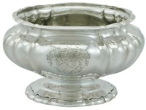 Antique George Iv Sterling Silver Bowl By Paul Storr 1820s