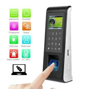 2 4 Tcp ip Fingerprint Password Time Clock Attendance Machine 125khz Rfid Card